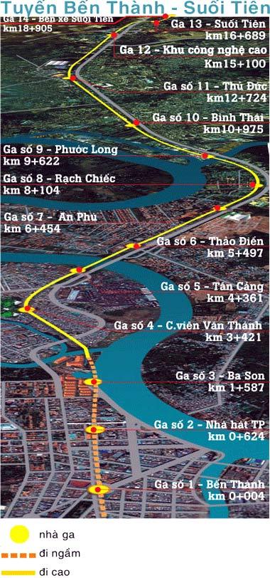 le khoi cong tuyen metro Ben Thanh - Suoi Tien