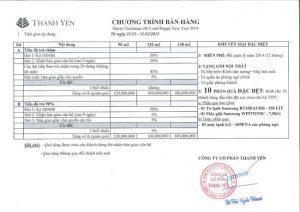 chuong trinh khuyen mai ban hang can ho Thanh Da View