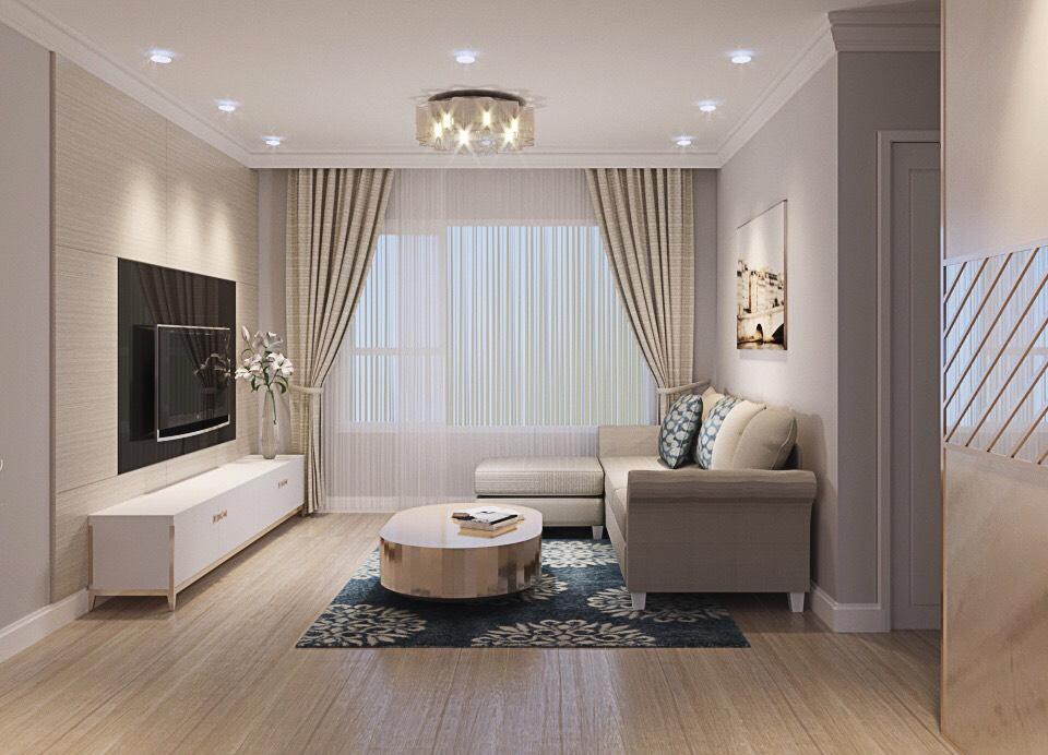 phòng khách sang trọng căn hộ Leman Luxury quận 3l oại 3 phòng ngủ