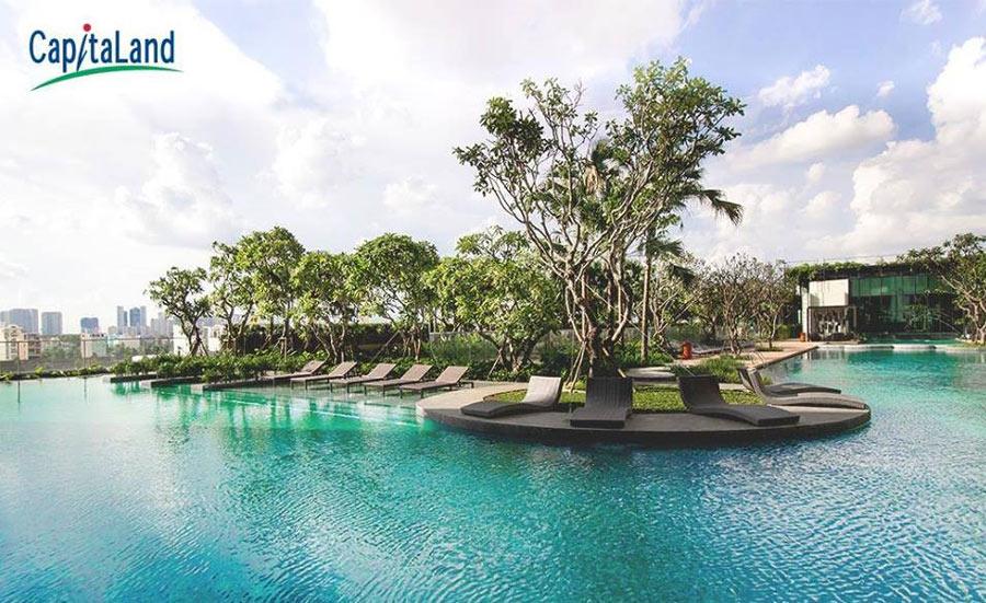 hồ bơi trong dự án Vista Verde Đồng Văn Cống quận 2