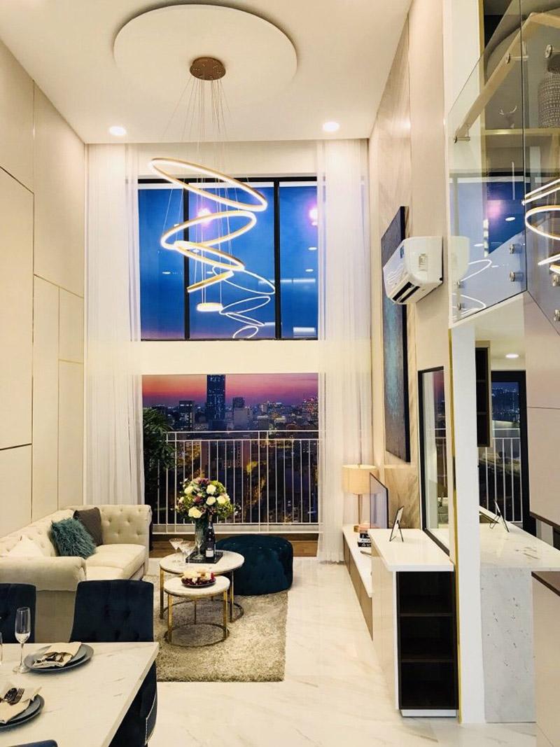 Hình nhà mẫu căn hộ có lửng La Cosmo Hoàng Văn Thụ