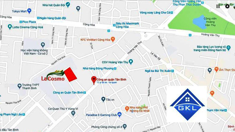 Vị trí dự án căn hộ La Cosmo Tân Bình