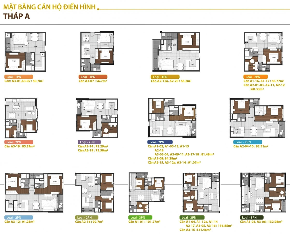 Diện tích căn hộ Goldview Bến Vân Đồn quận 4