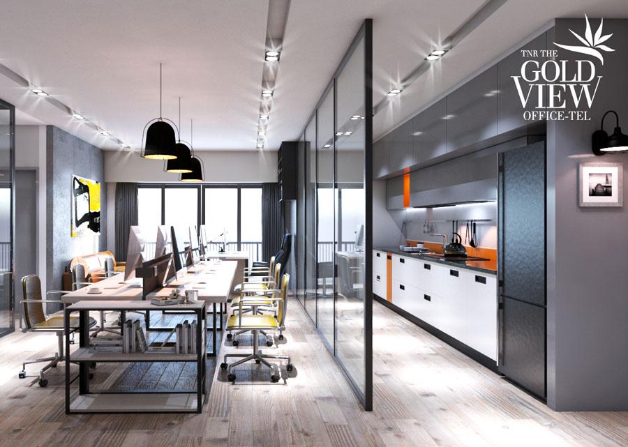 Thiết kế bếp căn hộ Goldview Bến Vân Đồn