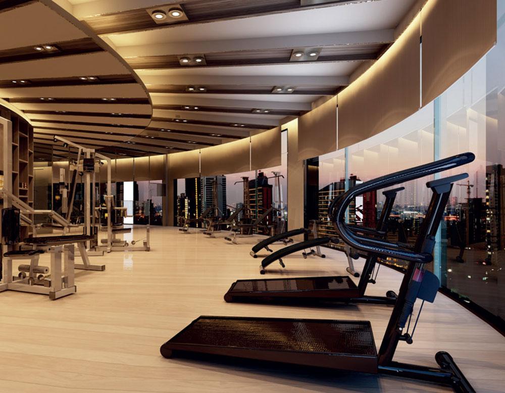 Phòng tập Gym hiện đại tại dự án Goldview Bến Vân Đồn