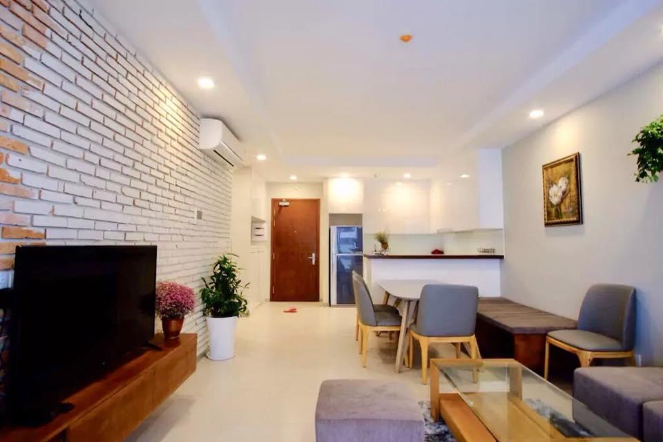 Phòng khách căn hộ Gold view quận 4