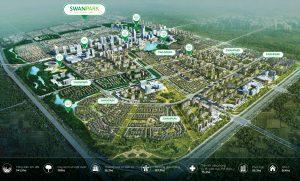 Tổng thể khu đô thị Swan Park tại Nhơn Trạch Đồng Nai