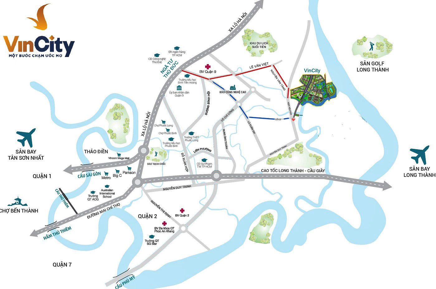 Đường đi đến dự án Vincity Grand Parrk tại quận 9
