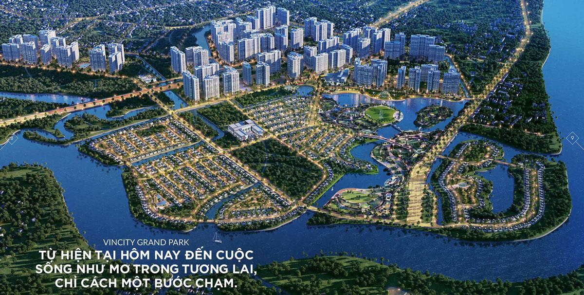 Phối cảnh tổng thể dự án Vincity Grand Park của Vingroup