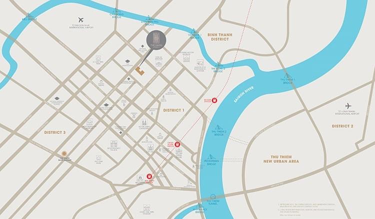 Vị trí dự án The Marq Nguyễn Đình Chiểu quận 3