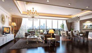 Phòng ngủ panorama không gian mở với kính sát sàn hòa quyện vào thiên nhiên
