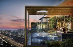 hồ bơi trên không có đáy bằng kính dự án D1 Mension Võ Văn Kiệt quận 1