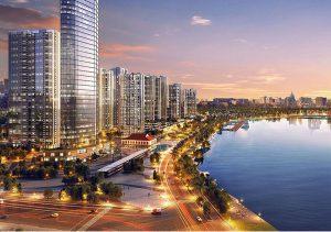 View sông Sài Gòn dự án căn hộ Vinhomes Golden River quận 1
