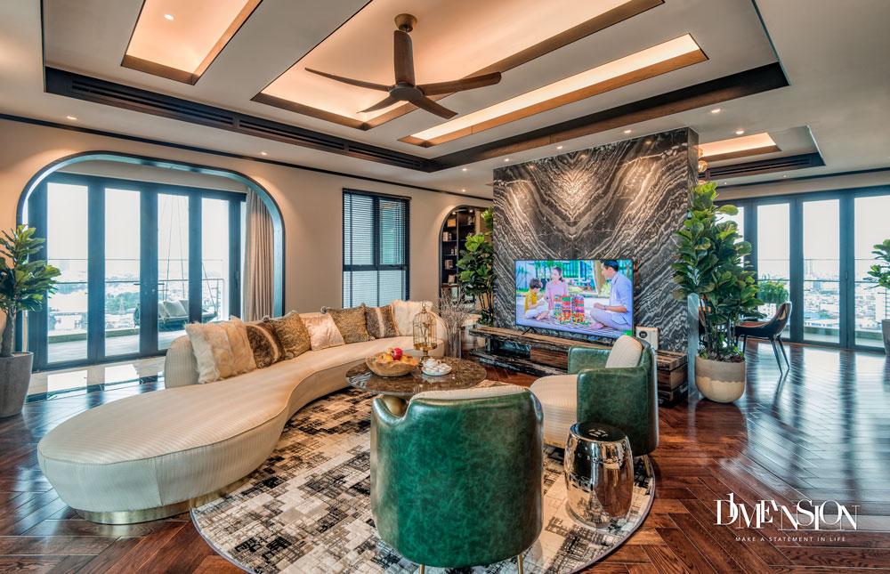 Phòng khách Penthouse sang trọng tại D1 Mension Capitaland
